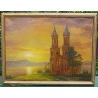 """Картина: """"Восход солнца"""". Автор К. В. Мельник"""