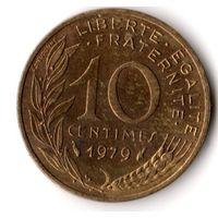 Франция 10 сантимов 1979