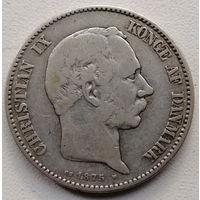 Дания 2 крона 1875