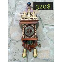 "Голландские Маятниковые Часы ""ZAANSE CLOCK"" Большие_3, 1930 -1950-е гг. Holland"