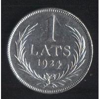 Латвия 1 лат 1924 г. (2*). Неплохой!!!