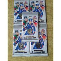 5 запечатанных пакетов карточек 11 сезона КХЛ.