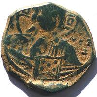 ВИЗАНТИЯ. РОМАН III АРГИР (1028-1034 г.) АНОНИМНЫЙ ФОЛЛИС.