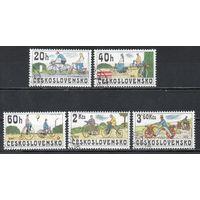 История велосипеда Чехословакия 1979 год серия из 5 марок