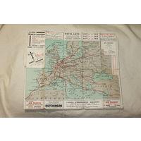 Дорожная-маршрутная карта Air France 1935 год ОБМЕН!