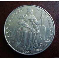 Французская Полинезия. 5 франков 2005 г.