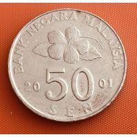 101-19 Малайзия, 50 сенов 2001 г.