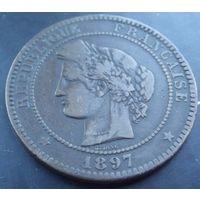 Франция. 10 сантимов 1897