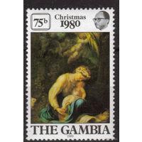 Гамбия 1980г. Рождество 1 марка - MNH