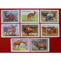 Вьетнам. Животные. ( 8 марок ) 1982 года.