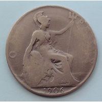 Великобритания 1 пенни. 1906