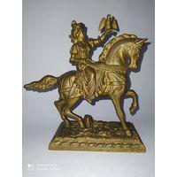 Старинная бронзовая статуэтка. Соколиная Охота. Германия.