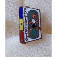 Румынский значок Polisport тяж. металл