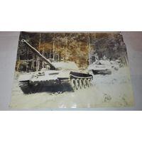 Старая Фотография с военным танком СССР