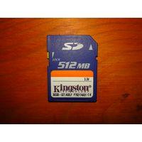 Карта памяти SD - Kingston 512 MB