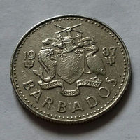 10 центов, Барбадос 1987 г.