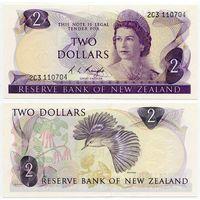 Новая Зеландия. 2 доллара (образца 1975 года, P164c, UNC)