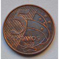 Бразилия 5 сентаво, 2007 г.