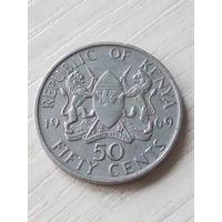 Кения 50 центов 1969г.