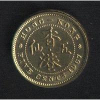 Гонконг 5 центов 1967 г. (*). Сохран!!!