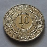 10 центов, Нидерландские Антильские острова, (Антиллы) 1993 г., UNC