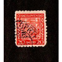 Марка Чехословакии-1929 -Гербы