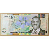 1 доллар 2017 года - Багамские острова - UNC - полимер