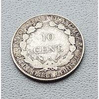 Французский Индокитай 10 сантимов, 1913 7-6-59