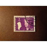 Гренландия  1981 г.Королева Маргрете II.
