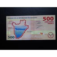 Бурунди 500 франков. 2015 г.