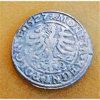 ГРОШ 1527, ЖИГИМОНТ СТАРЫЙ, КРАКОВ. ПО БЛИЦУ - ПОЧТОЙ БЕСПЛАТНО.
