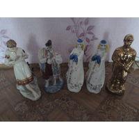 Фарфоровые статуэтки. 5 шт