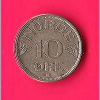 25-20 Норвегия, 10 эре 1954 г.