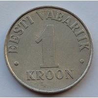 Эстония 1 крона. 1993