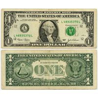 США. 1 доллар (образца 2003 года, L, Калифорния, P515a)