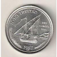 Португалия 100 эскудо 1987 Золотой век открытий - Нуну Триштан