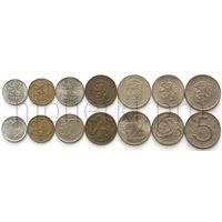 Чехословакия 7 монет 1961-1990 годов (VF-XF).