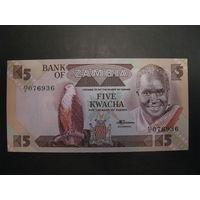 Замбия. 5 квача образца 1988 года. UNC.