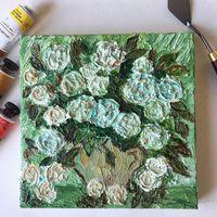 """Картина маслом """"Розы"""" в стиле Ван Гога"""