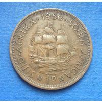 Южная Африка Британский доминион 1 пенни 1956