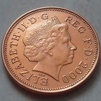 2 пенса, Великобритания 2000 г., UNC