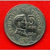 33-32 Филиппины, 5 песо 1997 г.