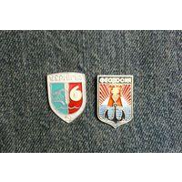 Значки гербы Чернигова и Феодосии.