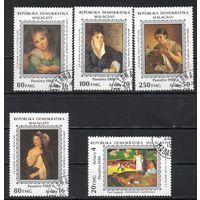 Женщины в живописи Мадагаскар 1989 год серия из 5 марок