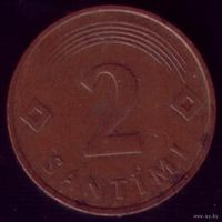 2 сантима 1992 год Латвия
