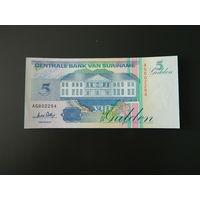 Суринам, 5 гульденов 1996 год.  UNC-