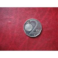 2 кроны 2001 год Чехия