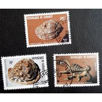 Джибути 1979 г. Моллюски. Фауна, полная серия из 3 марок #0086-Ф1