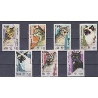 [1458] Кампучия 1985. Фауна.Кошки. Гашеная серия.