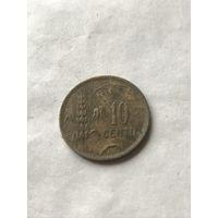 Литва 10 центов 1925
